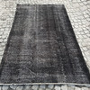 Black overdyed handmade rug   vintage turkish carpet istanbul carpet treniq 1 1491569012666
