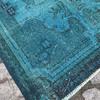 Turquoise blue handmade overdyed rug   vintage turkish mutedcarpet istanbul carpet treniq 1 1491572622933