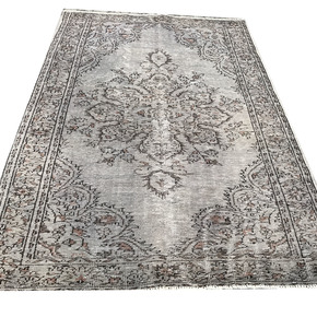Grey-And-Brown-Overdyed-Handmade-Rug-Gray-Vintage-Turkish-Carpet_Istanbul-Carpet_Treniq_0