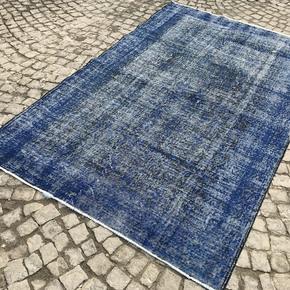 Navy-Blue-Overdyed-Handmade-Rug-Vintage-Turkish-Muted-Carpet_Istanbul-Carpet_Treniq_0