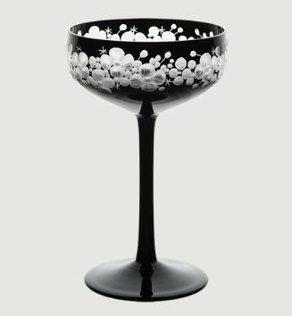 Isadora crystal champagne saucer   black rachel bates interiors ltd treniq 1 1491837111930
