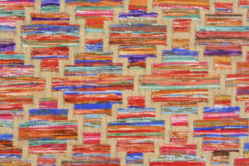 Rainbow handwoven cotton durry yak carpet  treniq 1 1491897376113