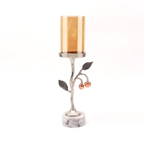 Pillar Candle Holder Large Cherry Collection -