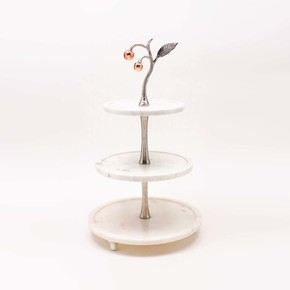 Cake Stand 3 Tier Cherry Collection - Home N Earth - Treniq