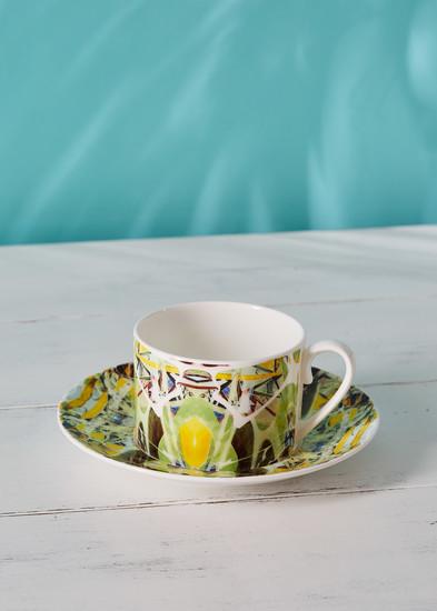 Kaleidoscope teacup and saucer spring designers atelier treniq 1 1492356066519