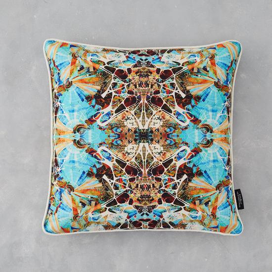 Kaleidoscope linen cushion summer designers atelier treniq 1 1492365079852
