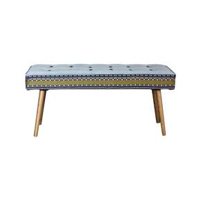 Studio-Series-Bench:-Folklorica-With-Ice-Blue-Seat_Five-Finger-Furnishings_Treniq_0