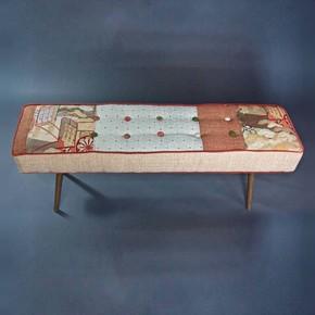 Mid-Century-Inspired-Bench-With-Vintage-Obi_Five-Finger-Furnishings_Treniq_0
