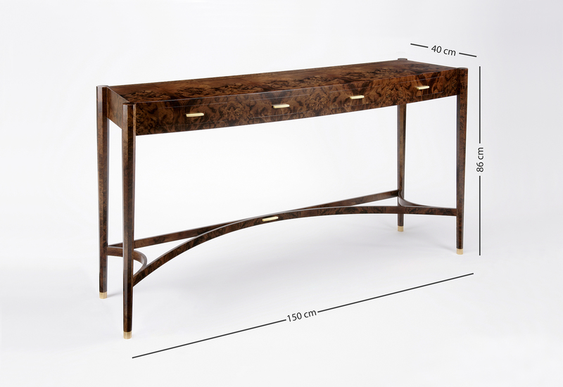 Burr walnut console table philip dobbins 5