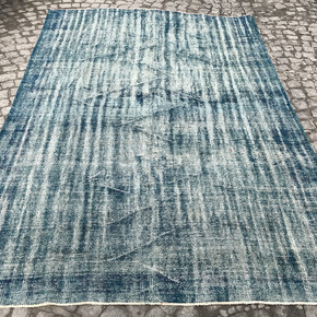 Blue-Handmade-Overdyed-Rug-Vintage-Turkish-Muted-Carpet_Istanbul-Carpet_Treniq_0