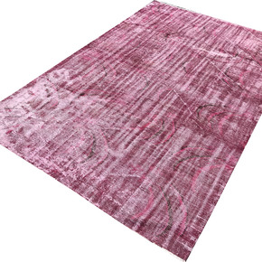 Pink-Overdyed-Turkish-Rug-Handmade-Vintage-Muted-Carpet_Istanbul-Carpet_Treniq_0