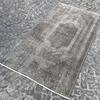 Grey overdyed turkish rug   handmade vintage oushak carpet istanbul carpet treniq 1 1493289359538