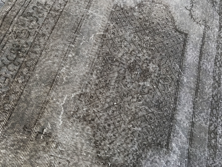 Grey overdyed turkish rug   handmade vintage oushak carpet istanbul carpet treniq 1 1493289359542