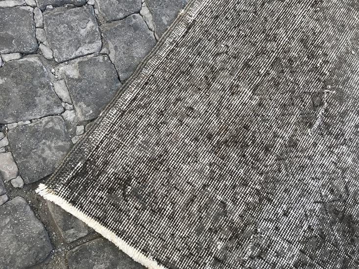 Grey overdyed turkish rug   handmade vintage oushak carpet istanbul carpet treniq 1 1493289359540