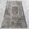 Grey overdyed turkish rug   handmade vintage oushak carpet istanbul carpet treniq 1 1493289359536