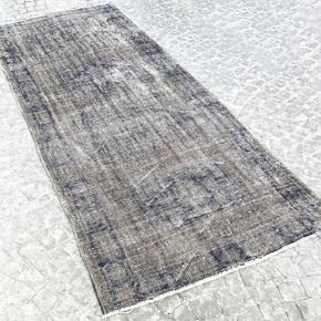 Vintage-Overdyed-Runner-Rug,-Turkish-Oushak-Rug_Istanbul-Carpet_Treniq_0