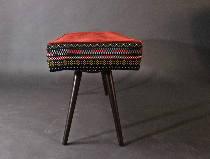 Studio series bench  folklorica with flame red seat five finger furnishings treniq 1 1494609339227