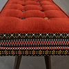 Studio series bench  folklorica with flame red seat five finger furnishings treniq 1 1494609354645