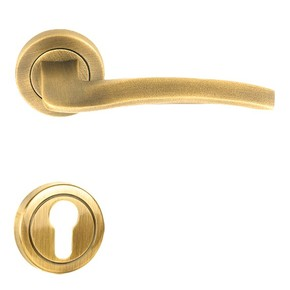 Flow‐R-Door-Handle-On-Round-Rose_Golden-Locks_Treniq_0