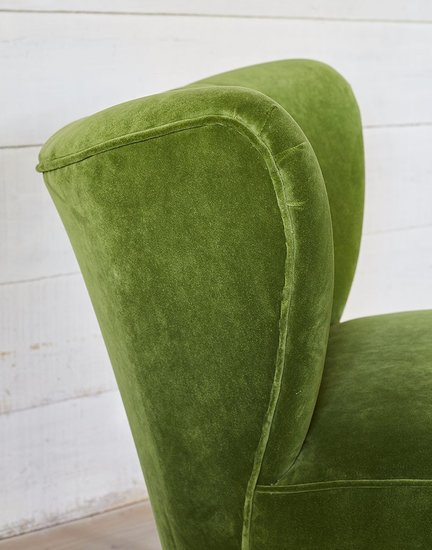 The new bartholomew cocktail chair in linwood grass omega velvet galapagos  treniq 1 1496219272703