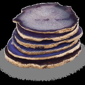 Agate-Coasters-Purple-_The-Pink-Elephant_Treniq_0