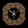 Shoe print design wall clock   round beryl phala limited treniq 1 1496686184524