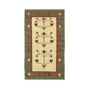 Bloom-Tree-Handmade-Woolen-Dhurrie_Yak-Carpet-_Treniq_0