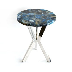 Stainless-Steel-With-Agate-Marble-Top-End-Table_Home-N-Earth_Treniq_0