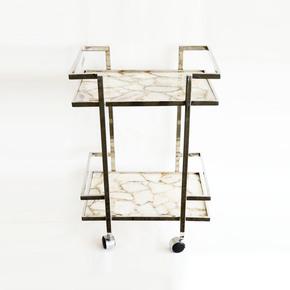 Stainless-Steel-And-Agate-Stone-Bar-Cart-_Home-N-Earth_Treniq_0