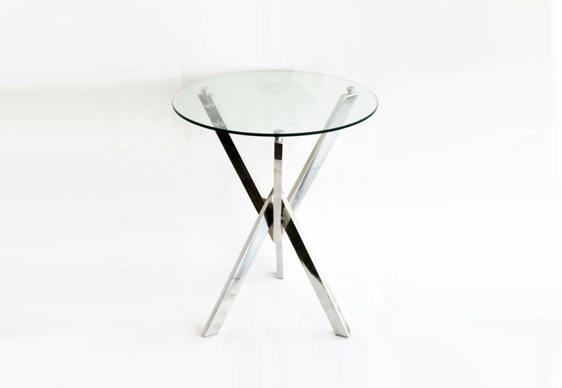 Stainless steel with glass top  end table home n earth treniq 1 1498025149021