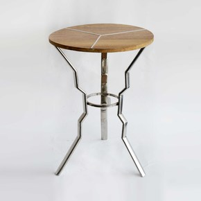 Stainless-Steel-With-Wooden-Top-End-Table_Home-N-Earth_Treniq_0