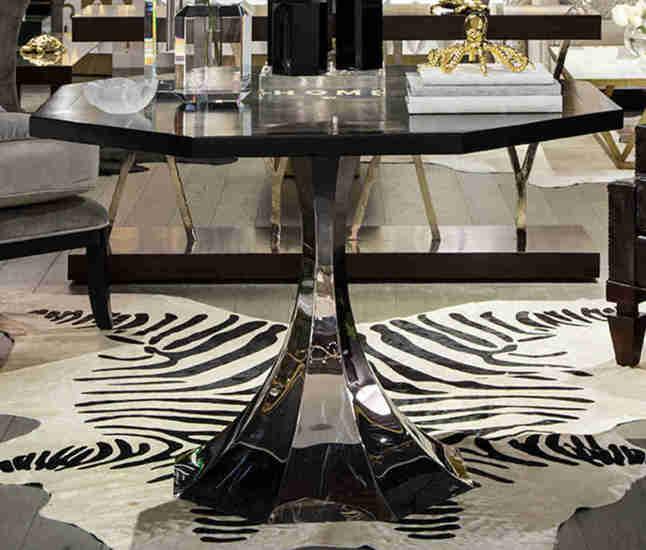 Cowhide rug   zebra print gilded home treniq 1 1498479147797