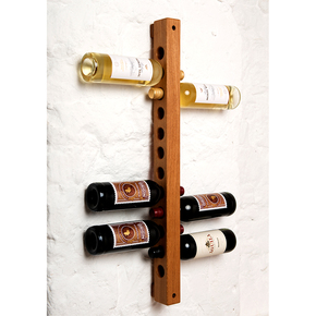 Oak wall-mounted wine rack - John Jacques