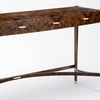 Burr walnut console table philip dobbins 4