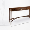 Burr walnut console table philip dobbins 6
