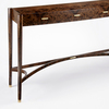 Burr walnut console table philip dobbins 3