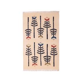 Carpet-Overseas-Tribal-Design-Ivory-Black-Cotton-Flat-Weave-Area-Rugs_Carpet-Overseas_Treniq_1
