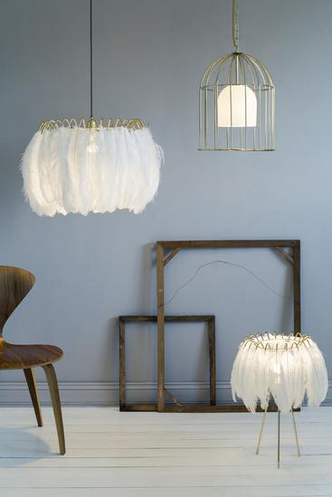 Feather pendant lamp white mineheart treniq 1 1500477578679