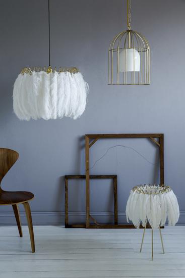 Feather pendant lamp white mineheart treniq 1 1500477595999