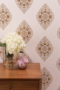 Boteh Wallpaper - Blush