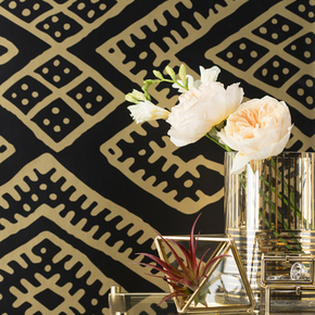 Kilim Wallpaper - Black