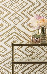 Kilim Wallpaper - Gold