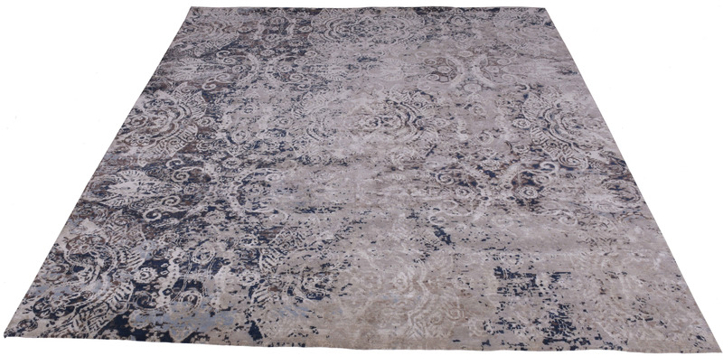Transitional hand knotted wool viscose rugs carpet overseas treniq 1 1501827276465