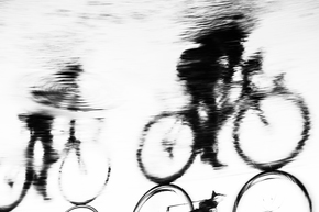 Reflected-Cyclists-Print._Andrew-Lever-Fine-Art_Treniq_0