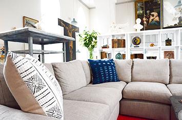 Indigo dream stitchdye cushion nomad design treniq 1 1503575556008