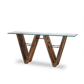 Albin Console Table (Glass Top)