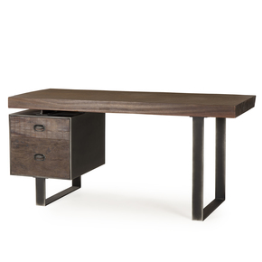 Steel-&-Live-Edge-Desk/-Single-Ped_Thomas-Bina_Treniq_0