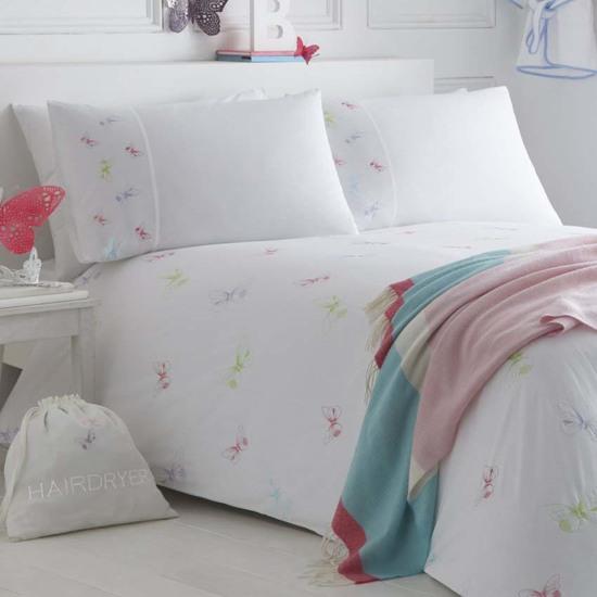 Butterflies organic cotton duvet cover and pillowcase collection the fine cotton company treniq 1 1504162482166