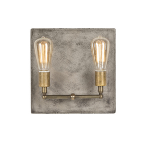 Factory-Sconce-In-Aged-Brass-(Double)_Nellcote_Treniq_0