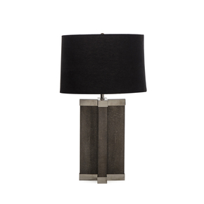 Grey-Shagreen-Lamp-(Stainless-Steel-Accents)_Nellcote_Treniq_0